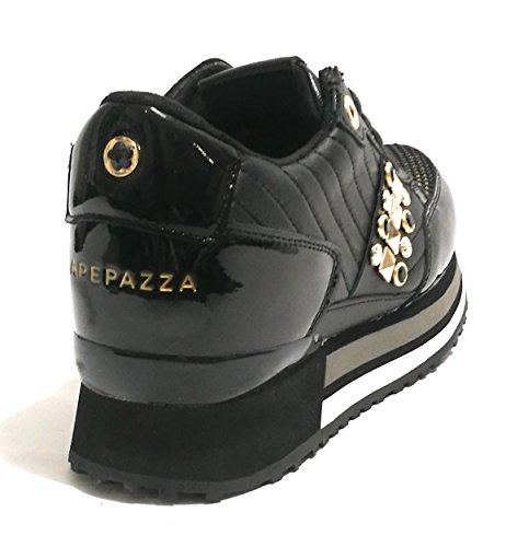 Mujer Apepazza para Zapatillas Nero Gold qnO7fFwS
