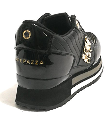 gold Femme Baskets Nero Apepazza Pour dwInExnFq