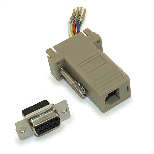 Db9 Rj11 To (MyCableMart DB9-Female to RJ11/12 (6 wire) Modular Adapter Ivory)