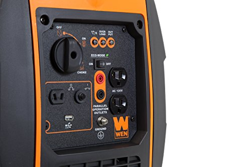 Wiring face of WEN 56200i Super Quiet 2000-Watt Portable Inverter Generator, CARB Compliant