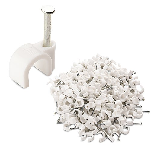 Cable Matters 200-Pack Nail-in Cable Clips -