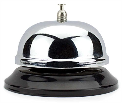 Chrome Service Bell with Black Base by Lansky Office Supplies (10cm) by Lansky Office Supplies (Hotel Bell No Slip compare prices)