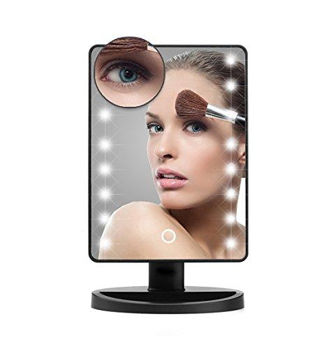 EALEK LED Lighted Makeup Mirror 16 LED Lights with Remova...