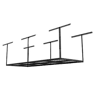"FLEXIMOUNTS Heavy Duty Overhead Garage Adjustable Ceiling Storage Rack, 96"" Length x 36"" Width x 40"" Height, Black"