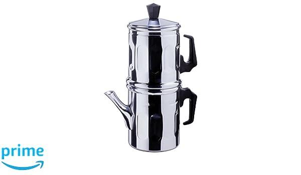 Cafetera tradicional napolitana de aluminio, para 1-2 tazas ...