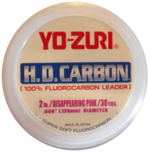 Yo-Zuri H.D. Fluorocarbon 30-Yard Leader Line, Pink, 6-Pound