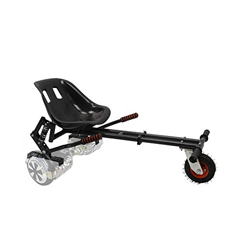 Hoverkart with suspension fits 6.5'',8'',10'' hoverboard GoKart Electric Scooter (BLACK, universal (6.5'', 8'', 10'')) (BLACK)