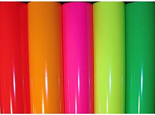 Finest Folia (22,80€/m²) Neon Pantalla para Plotter Oracal 6510 ...