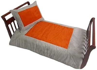 Baby Doll Bedding Set Zuma Toddler Bedding Set, Grey/Pumpkin from Baby Doll Bedding