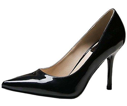 Pumpe schwarz Stiletto Frauen Spitze 1 Kleid 1485 HooH xwa1qCpq