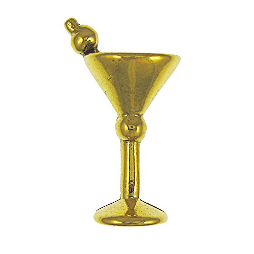 Martini Glass Gold Lapel Pin - 100 Count by Jim Clift Design