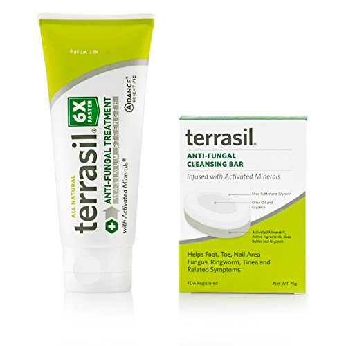 terrasil® Anti-fungal Treatment MAX + Anti-fungal Cleansing Soap - 6X Faster Doctor Recommended 100% Guaranteed All-Natural Soothing Clotrimazole OTC-Registered - Complete Treatment- 50g + Bar