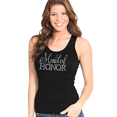 69771d813dc71 Maid of Honor Rhinestone Tank Top - Bachelorette Party Shirts ...