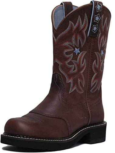 Probaby Boots 10 Western - ARIAT Probaby Mid Calf Boots in Brown (UK 4, Brown)