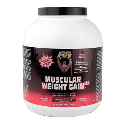 Healthy 'N Fit Muscular Weight Gain 3, Chocolate, 4.4 Pound