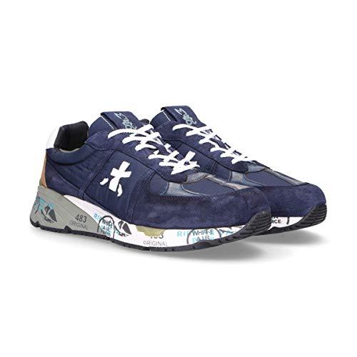 Mase3556 Uomo Blu Sneakers Premiata Camoscio H4Rq0EWw