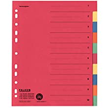 Registrador de cartón (extra ancho) de Falken, para DIN A4, color rojo 1