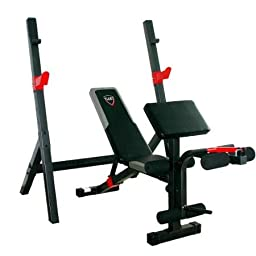 CAP Strength Durable Fitness Olympic Weight Bench with Full Leg Developer and Preacher Pad