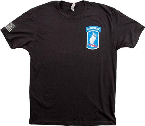 173Rd Airborne Brigade   Sleeve Flag   U S  Military Army Veteran 173D Bde Shirt  Black Xl