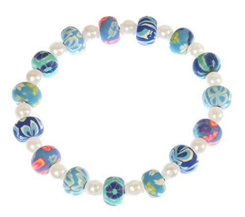 - Style-ARThouse Little Bluebird Shades of Blue Beaded Stretch Bracelet, 6.0 Inches