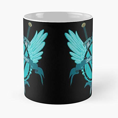 Shield Maiden Teal Viking Vikings - Coffee Mugs Ceramic ()