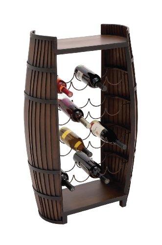 Benzara The Polished Wood Metal Wine Rack by Benzara