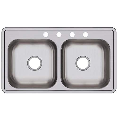 Elkay D233194 Dayton Equal Double Bowl Drop-in Stainless Steel Sink ()