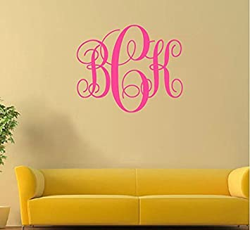 Amazing Personalized Wall Decal Sticker Initials Wall Decal Custom Wall Decal  Monogram Wall Sticker For Kids Rooms
