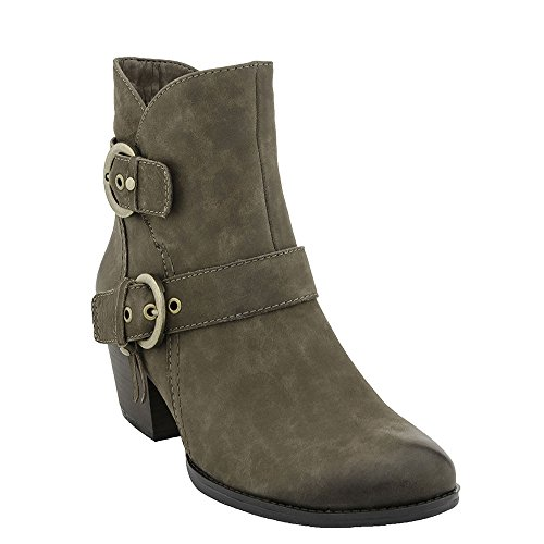 Earth Women's Olive Biker Boot,Stone Vintage Leather,US 6 M