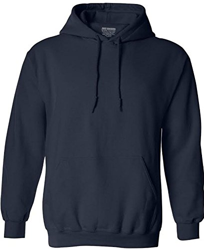 Blue Big Logo Hoodie - Joe's USA tm - Big Mens Size Four Extra Large Hoodie Sweatshirts-4XL in Navy