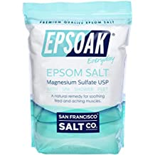Epsoak Epsom Salt 10lbs Magnesium Sulfate USP (10 lb. Bulk Bag)