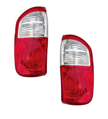 2004-2005-2006 Toyota Tundra 4-Door Double Cab SR5 (Standard Bed CLEAR/RED Lens) Pickup Truck Taillight Taillamp Rear Brake Tail Light Lamp Pair Set Right Passenger AND Left Driver Side (04 05 06) ()