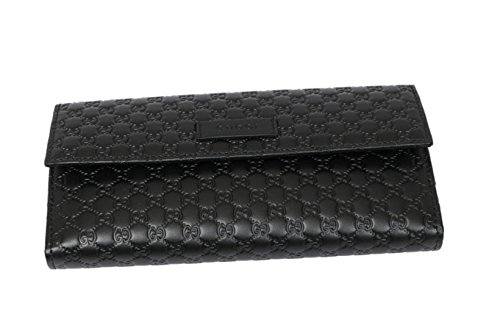 d013b150ffe8e7 Gucci Black Leather Continental Flap Wallet 305282 – Anna's Collection
