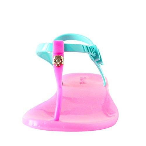 Zhoelala Damen Sandalen Zehentrenner Candy Rock PI