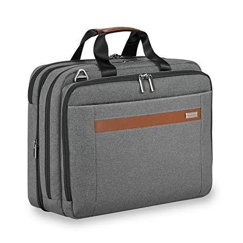 Briggs & Riley Kinzie Street Medium Expandable Brief Briefcase, Grey, One Size