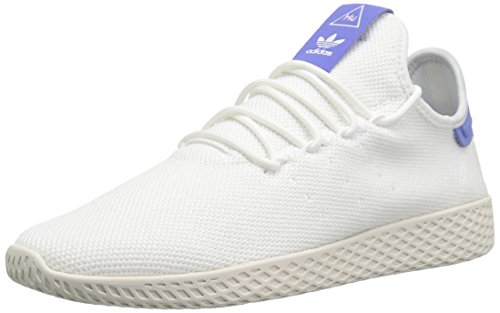 adidas Originals Men's Pharrell Williams Tennis HU Running Shoe, White/Chalk, 13 M US