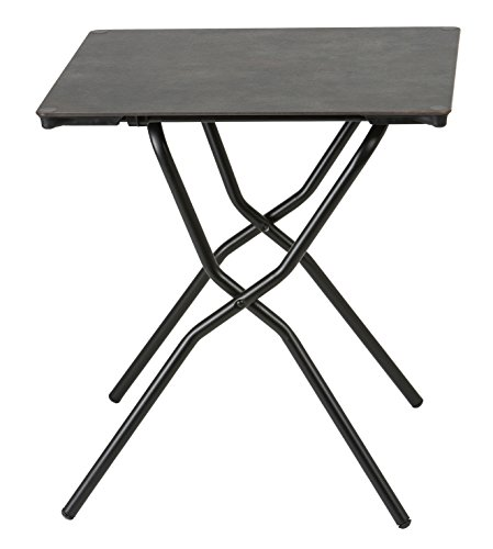 Lafuma Anytime Folding Table - Waterproof Square Outdoor Folding Table - Volcanic Finish Table Top