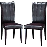 Baxton Studio Eugene Dark Brown Modern Dining Chair, Set of 2
