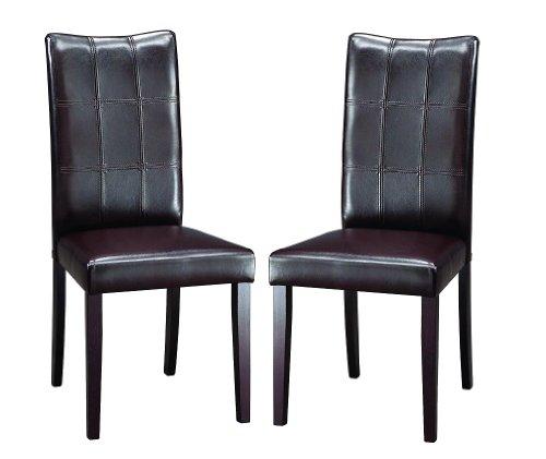 Dark Brown Baxton Studio - Baxton Studio Eugene Dark Brown Modern Dining Chair, Set of 2