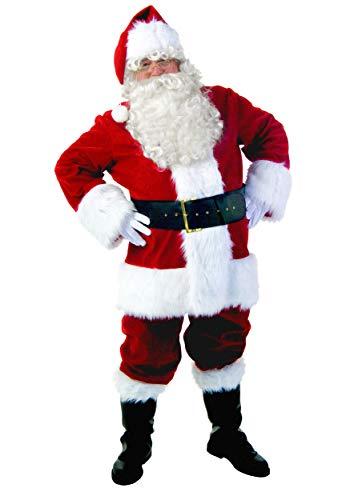 Premiere Plus Size Santa Costume Santa Claus Suit Plus Size Men's Costume 3X Red