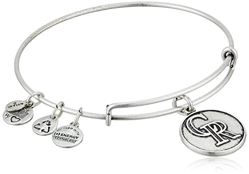Alex and Ani Colorado Rockies Cap Logo Expandable Rafaelian Silver Bangle Bracelet (Charm Rockies Colorado)
