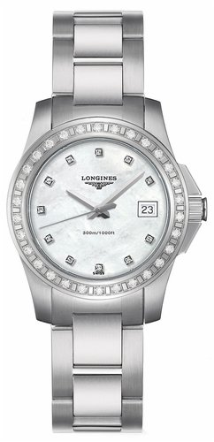 Longines Conquest Pearl Diamonds Ladies Watch
