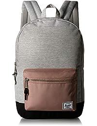 Herschel Supply Co. Settlement Mid-Volume Backpack, Light Grey Crosshatch/Ash Rose/Black, One Size