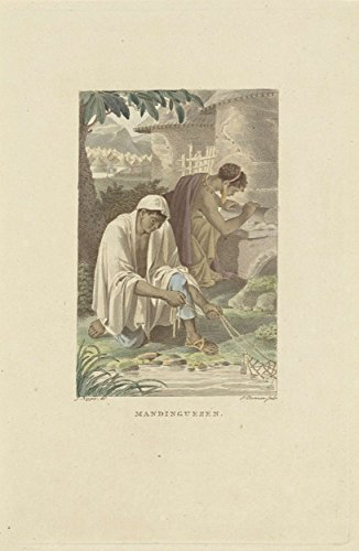 "Classic Art Poster - Residents of West Africa (Mandinka), Ludwig Gottlieb Portman, 1807 9"" x 13"" -  VintPrint, RMC158349AM"