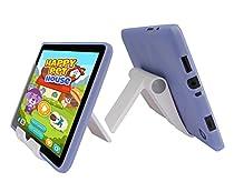 "Insignia Flex NS-P08A7100 TPU Case - iShoppingdeals Slim Fit , Anti-Slip Protective TPU Rubber Gel Cover for Insignia Flex 8"" NS-P08A7100 Tablet 2016 Release Case and View Stand Holder (Light Blue)"