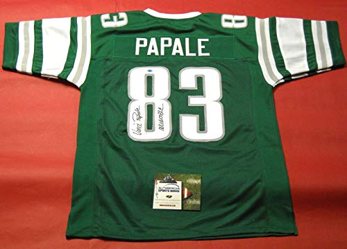 - VINCE PAPALE AUTOGRAPHED PHILADELPHIA EAGLES THROWBACK JERSEY AASH INVINCIBLE