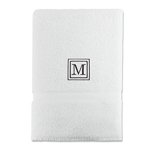 luxor-linens-100-egyptian-cotton-bath-towel-oversized-black-monogrammed-letter-m-white