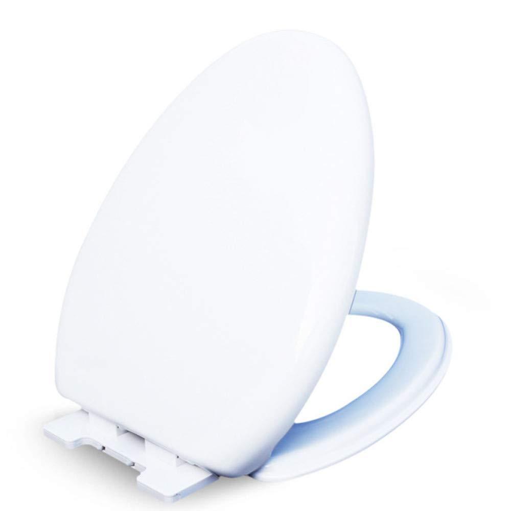 JHMY Familien-WC-Abdeckung WC-Cover-Zubehör Dicke Mute V,Weiß