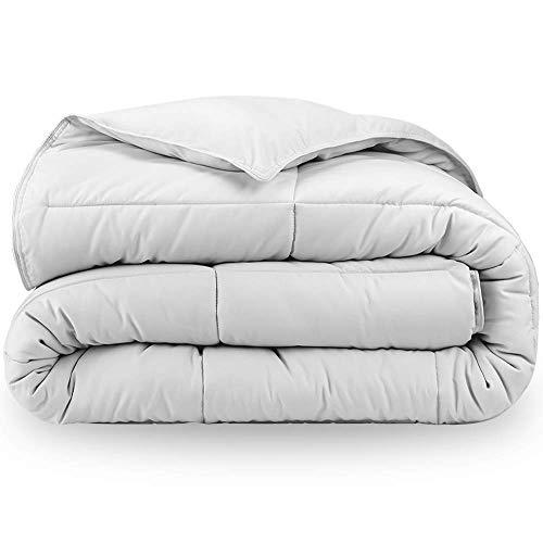 Bare Home Comforter/Duvet Insert - King/California King - Goose Down Alternative - Ultra-Soft - Premium 1800 Series - Hypoallergenic - All Season Breathable Warmth (King/Cal King, White)