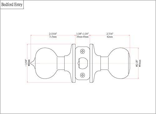 Designers Impressions Bedford Design Matte Black Entry Door Knob